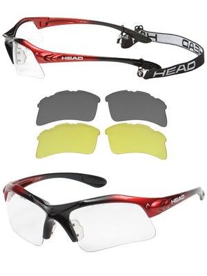 97366706021 HEAD Raptor Racquetball Eyewear - Red Black